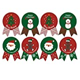 XYDZ 240pz 30 Fogli Etichette Decorative Adesivi Stickers Decorazione, Baking imballaggi Cravatta Tenuta Natale Adesivi apposti Buon Natale & Present Etichetta Festa Stickers