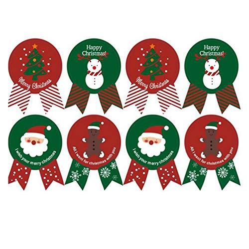 XYDZ Navidad Sellado de Pegatinas, Etiqueta Adhesiva Navidad Navidad Etiqueta de Papel 240 Piezas Pegatina Navidad Pegatinas...