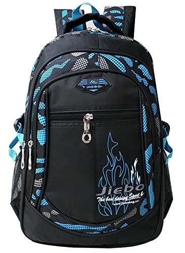 HMMHHE Sac à Dos léger pour l école Unisexe Enfant Girl Garçon Boy Nylon Léger Primaire Junior Schoolbag Sac à Dos de randonnée (Color : 3 Blue 30l, Size : Backpack)