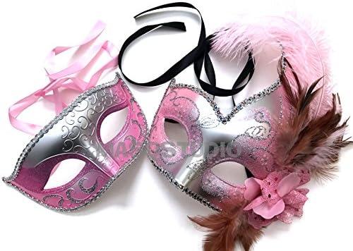 Masquerade Masks pink purple