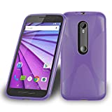 Cadorabo Funda para Motorola Moto G3 en ORQUÍDEA Violeta - Cubierta Proteccíon de Silicona TPU Delgada e Flexible con Antichoque - Gel Case Cover Carcasa Ligera