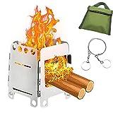 Estufa de Leña Camping - LeapBeast Estufa de Leña al Aire Libre Hornillo de camping Portátil Hornillo Alcohol Plegable, Equipado Con Bandeja de Alcohol de Acero Inoxidable para picnic camping