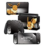 Controller Gear Officially Licensed Nintendo Switch Skin & Screen Protector Set - Pokémon - 'Eevee Elemental' Set 1