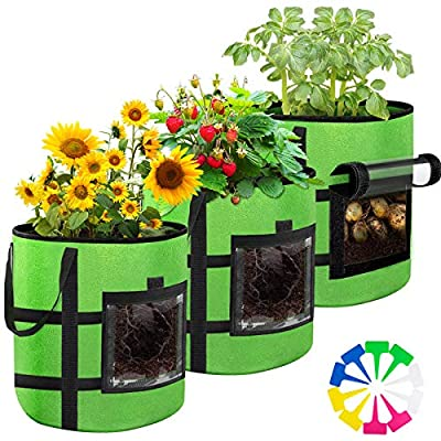 10 Gallon Potato-Grow-Bags?3 Pack of Plant Pots...