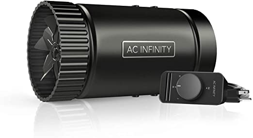 """AC Infinity RAXIAL S4, Inline Booster Duct Fan 4"""" with Speed Controller - Low Noise Inline HVAC Blower Can Fan for Basements, Bathrooms, Kitchens, Workshops"""