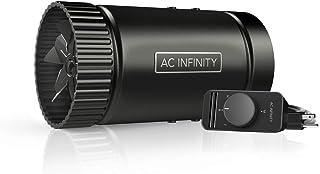 "AC Infinity RAXIAL S4, Inline Booster Duct Fan 4"" with Speed Controller - Low Noise Inline HVAC Blower Can Fan for Basemen..."