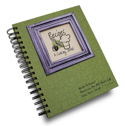 """Journals Unlimited """"Write it Down!"""" Series Guided Journal, Recipes, A Cooking Journal, with a Green Hard Cover, Made of Recycled Materials, 7.5""""x 9"""""""