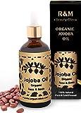 Aceite de jojoba - Aceite de jojoba 100% puro y orgánico, prensado en estado frío, para cara, cuerpo y cabello Piel hermosa, cara pura y brillante, cabello fuerte - Botella de comercio justo de 100ml