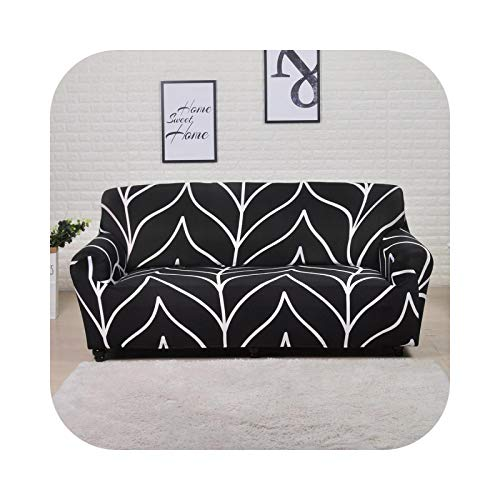 HCIUUI Geometric Elastic Sofabezug für Living Room Modern Sectional Corner Sofa Slipcover Couch Cover Cover Chair Protector 1/2/3/4 Seater-Black Stripe 1-seater 90-140cm