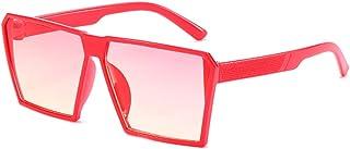 DishyKooker Children Fashionable Large Frame Colorful Lens Square Frame Sunglasses
