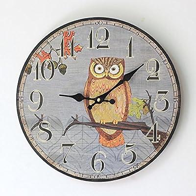 ZQ Modern retro decorative ornaments round wall clock