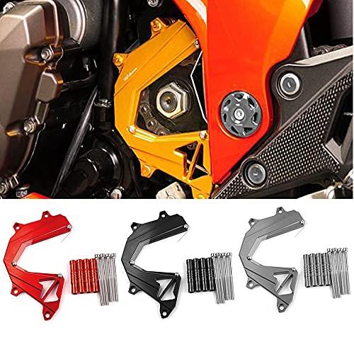 ZMMWDEPanel de Aluminio CNC Modificado para Motocicleta, Protector de la Cubierta de la Cadena del Protector del Motor Izquierdo, Cubierta del piñón Delantero, para Kawasaki Z800 2013-2016 Naranja