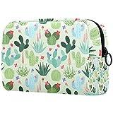 Bolsa de maquillaje de viaje/bolso de embrague/bolsa de cosméticos/bolsa de maquillaje/bolsa de aseo, hoja verde negro, colibrí rojo flor-