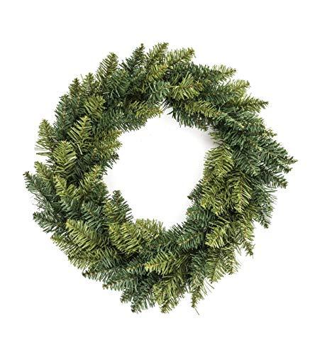 Déco Noël - Couronne de Noël - Diamètre 40 cm - Coloris VERT