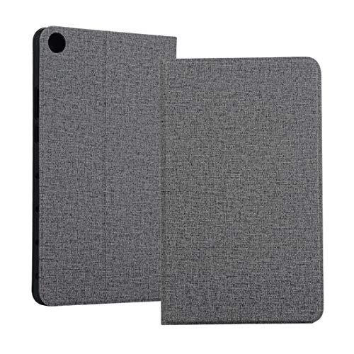 MOYOFEE JYMD AYD Universal Voltage Craft Cloth TPU Funda Protectora para Huawei Honor Tab 5 8 Pulgadas/MediaPad M5 Lite 8 Pulgadas, con Titular (Color : Grey)