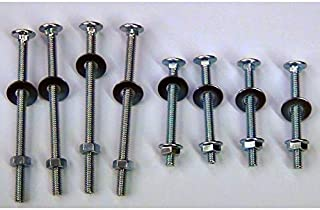 Universal Headboard or Footboard Hardware Nuts and Bolts 4 inches and 2 1/2