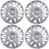 BDK KT-997-16_AMZKING Silver Hubcaps Wheel Covers for Toyota Sienna 2004-2010 (16 inch) – Four (4) Pieces Corrosion-Free & Sturdy – Full Heat & Impact Resistant Grade – Replica Replacement