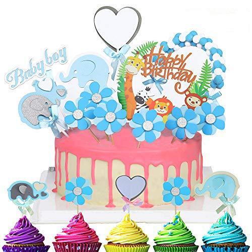 Cake Toppers Cumpleaños,Lindas de la Selva de la Torta de los Animales...