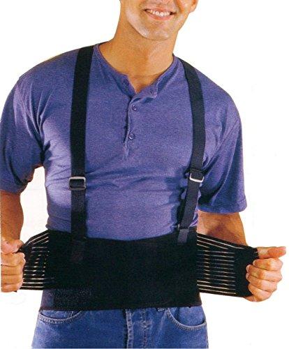 Mikros PQS Rückenstützgurt, Rücken-Aktivbandage, Rückengurt schwarz, Größe XL