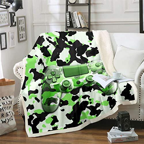 Loussiesd Manta de sherpa para niños y adolescentes, diseño de videojuegos, para sofá, cama, bebé, 76 x 106 cm