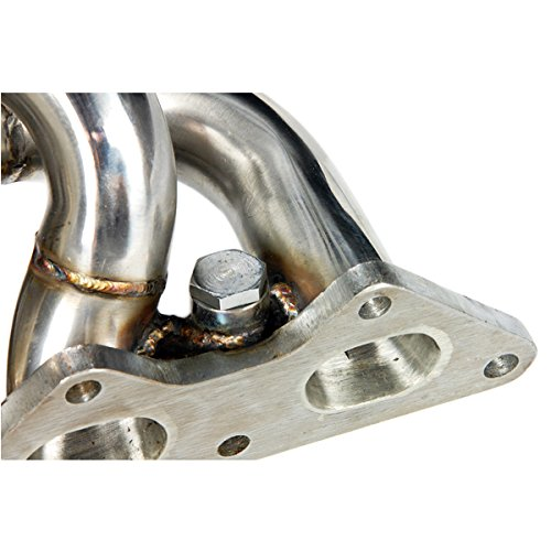 Autobahn88 Stainless Steel Exhaust Header Manifold Performance Metal Gasket Kit Bundled fits for Mitsubishi Evolution EVO 4 5 6 7 8 9 with 4G63 2.0L TD05 Turbo Motor