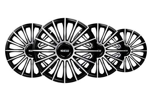 Jeu d'enjoliveurs Sparco Torino 14-inch noir/argent