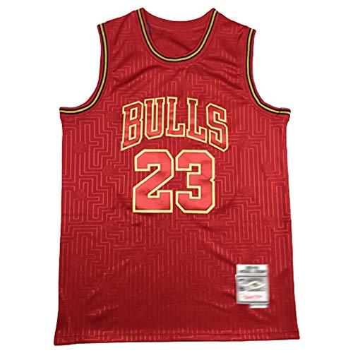 Herren Memorial Basketball Shirt 1997-98 Bulls Rodman Nr. 23 Pippen Nr. 33 Nr. 91 Limited Edition Fan Jersey-red-XL