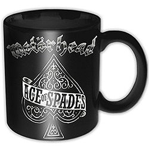 empireposter - Motorhead - Ace of Spades - Größe (cm), ca. Ø8,5 H9,5 - Lizenz Tassen, NEU - Motorhead Boxed Mug: Ace of Spades - Beschreibung: - Keramik Tasse, bedruckt, Fassungsvermögen 320 ml, offiziell lizenziert, spülmaschinen- und mikrowellenfest -