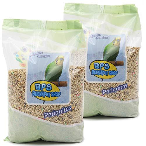 BPS Pienso Periquitos 1.8Kg Alimento Completo Comida con ormula Alta Energía Material Natural Receta Equilibrada con Base Científica BPS-4026 * 2