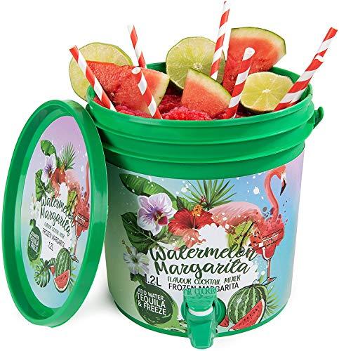 Modern Gourmet Foods - Frozen Watermelon Margarita Geschenkset - DIY Cocktail Selbermachen - inkl. 3L Eimer & Mischung