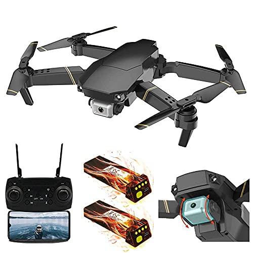 Drone pieghevole 4k, WiFi FPV Quadricottero RC con videocamera 4k Drone pieghevole video in diretta per principianti - Modalità senza testa di mantenimento dell'altitudine Una chiave di spegnimento/at
