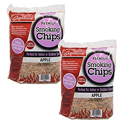 Camerons Products Smoking Chips - (Apple) Kiln Dried, Natural Extra Fine Wood Smoker Sawdust Shavings - 4 Pound Bag Barbecue Chips