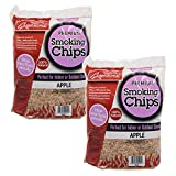 Camerons Products Smoking Chips - (Apple) 260 cu. in. (0.004m³) - Kiln Dried, Natural Extra Fine Wood Smoker Sawdust Shavings - 4 Pound Total Bag Barbecue Chips