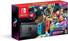 This bundle includes the Nintendo Switch HAC 001 console, dock, Joy Con (L) and Joy Con (R), 2 Joy Con straps, 1 Joy Con grip, HDMI cable, AC adapter, and a download code for Mario Kart 8 Deluxe Play your way with the Nintendo Switch gaming system  w...