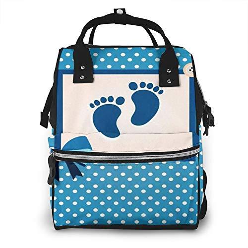 Bolsa para Cambiar Al Bebé Bolsa para Cambiar Pañales Mochila Gran Capacidad Impermeable Mochila para El Cuidado Del Bebé Plantilla de Baby Shower