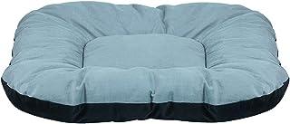 Mellifluous Large Size Dog and Cat Reversible Pet Bed, Grey-Black