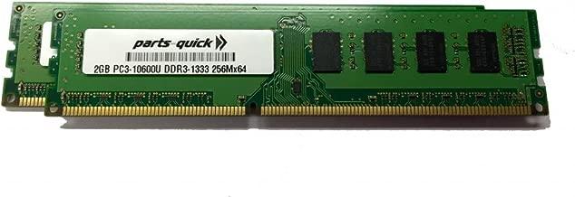 4GB Kit (2 X 2GB) Memory Upgrade for HP Pavilion p6710f PC3-10600 DDR3 1333 MHz DIMM Non-ECC Desktop RAM (PARTS-QUICK BRAND)