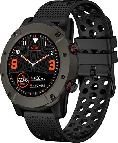 Denver Bluetooth-Smartwatch 'sw-650' mit GPS, Herzfrequenz- und Blutdruckmesser, Schwarz