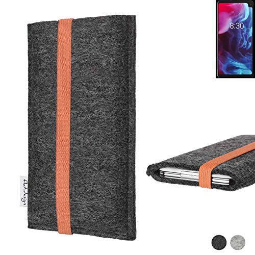 flat.design vegane Handy Tasche Coimbra kompatibel mit Archos Oxygen 63XL - Schutz Hülle Tasche Filz vegan fair orange