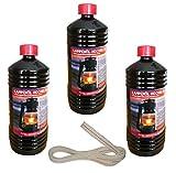 Olio per lampade purissimo, 3 litri, per lanterne e lampade a olio, incl. stoppino per lanterna da 1 m, Lampada Feuerhand 275 e 276