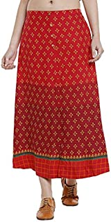 ATEESA By FBB Floral Print A-Line Skirt Red