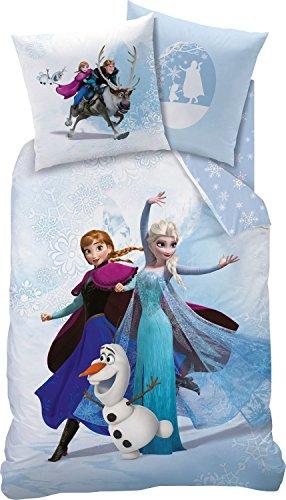 Disney Frozen Bettwäsche von CTI, Enjoy, 135x200, Kissen: 80 x 80 cm