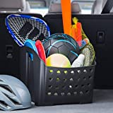 Rubbermaid Automotive Portable Tote Bin Organizer: Cargo Area/Car Trunk Storage Caddy with Leakproof Bottom, Standard