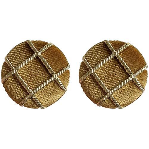 N/ A Vintage Geometrie Knopfform Ohrstecker weiblich Böhmen Runde Trendy Große Ohrringe große Flusen Ohrringe für Frauen Schmuck