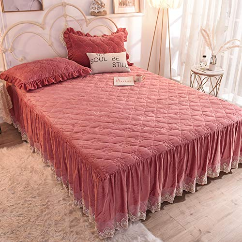 Xiaomizi Keep Warm In Autumn And Winter Crystal Velvet Single Product Bed Skirt Thick Quilted Single Double Cover