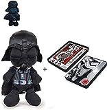 S&W Star Wars - Peluche Darth Vader 11'/29cm Calidad Super Soft + Caja metálica Set papeleria