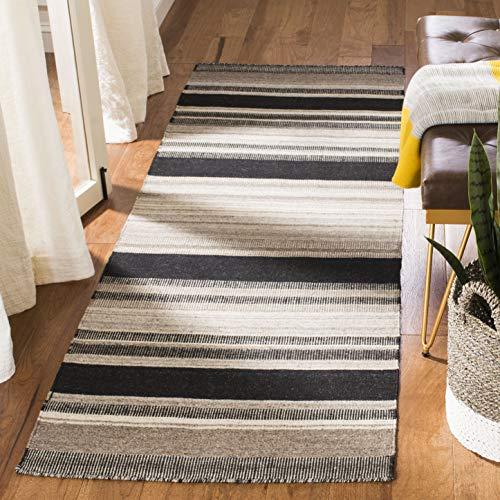 Safavieh Dhurries Collection DHU628A Handmade Flatweave Premium Wool Runner, 2