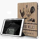 Carcasa para iPad 10.2 Inch, iPad Air 7.ª Generación ,Baño de gallina y granja de pollos Granja Miller Carbón de aves de corral Naturaleza,incluye soporte magnético y funda para dormir/despertar