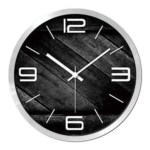 ZhenHe Zené Personalidad Sencilla Sala de Estar de la Manera y el Reloj Grande Tranquila Reloj Colgante Reloj de Cuarzo