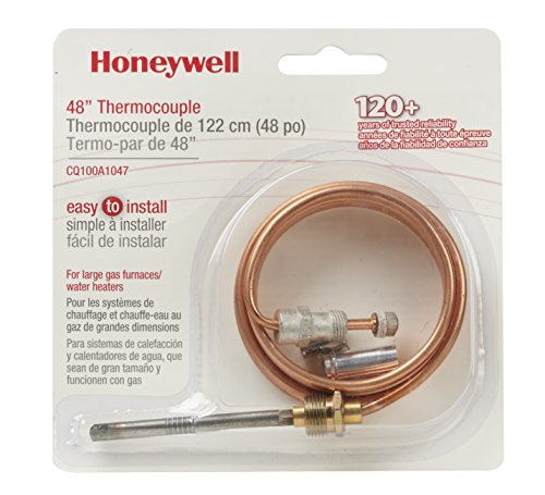 Honeywell CQ100A1047 48-Inch Replacement Thermocouple for Gas Furnaces, Boilers and Water Heaters